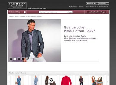 Screenshot Fashion Classics-Shop