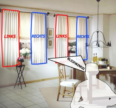Sondermaß Vorhang Linksrechts Oder Mittig Am Fenster Kavaliershaus